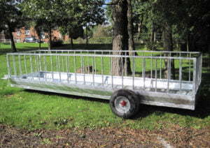 sheep feed trailer side