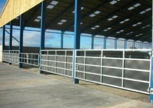 heavy-duty sheeted gate bespoke